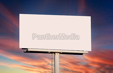 empty advertisment poster