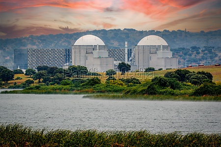 spanish nuclear power plant next to