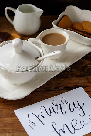 coffee cup and cookies on a