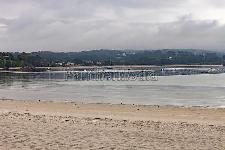 beautiful cloudy day in a beach