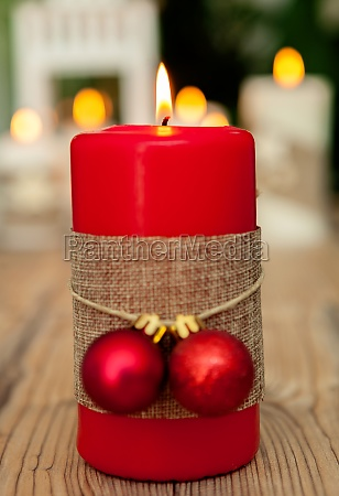 beautiful candles in home