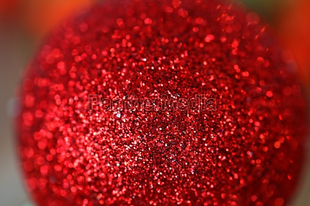 red christmas balls with glitter