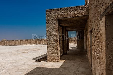a courtyard of aqeer castle saudi