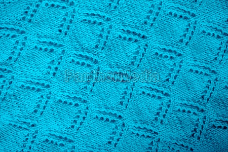 blue baby blanket hand knitted