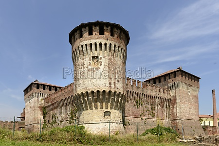 castle view from south west soncino