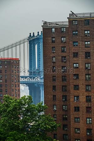 brooklyn bridge and the skyline of
