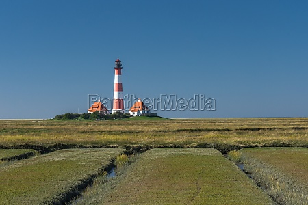 lighthouse westerheversand westerhever eiderstedt north frisia