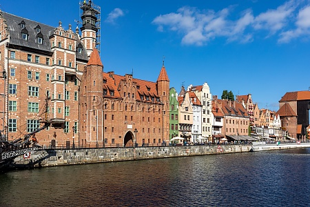 old town of gdansk with the