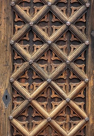 old wooden door to st marys