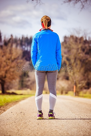 young woman in sportswear on a