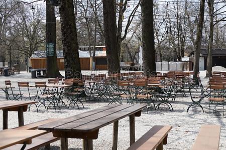 empty beer garden