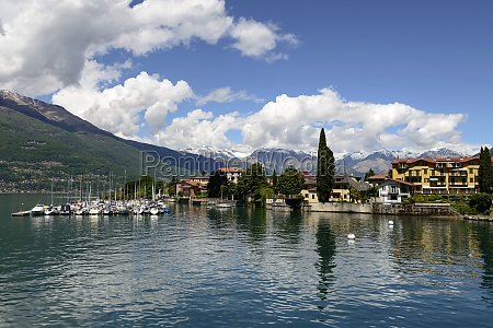 touristic moorings and bellano village italy
