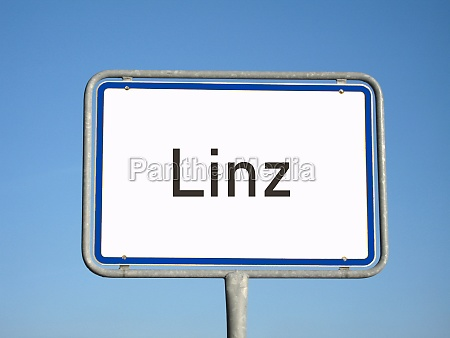 place name sign linz