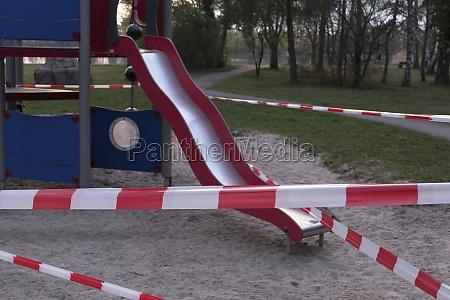 closed childrens playground
