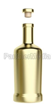 gold bottle for alcoholic beverage