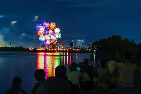 setagaya ku tama river fireworks display