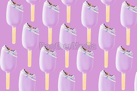 bitten pink cookie ice creams on