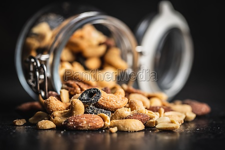 mix of salted nuts