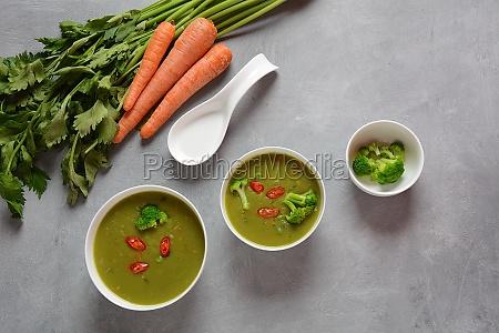healthy vegan creamy blended vegetable soup