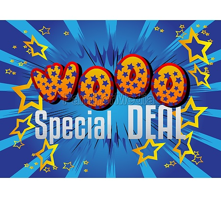 wooo, special, deal, comic, book, style - 29791193