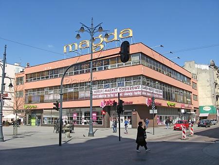 main touristic street of polish city