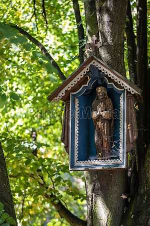 old roadside shrine in the open