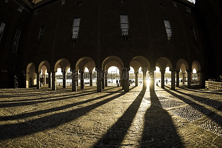 of stockholm city hall courtyard sweden