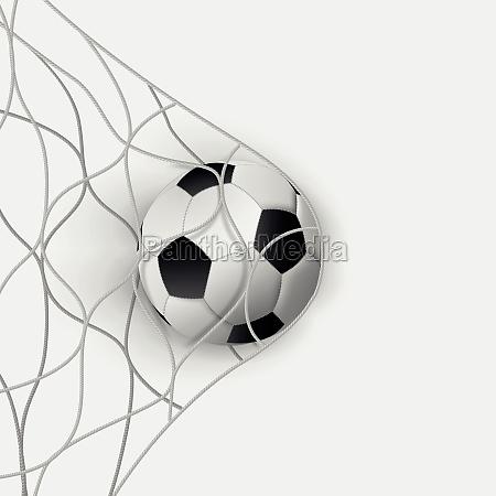soccer ball football net sport goal