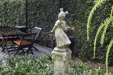 summer green relaxation of outdoor garden