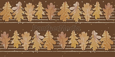 seamless autumn pattern oak leaves cool