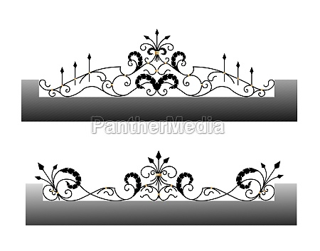 vector template for a fence wrought