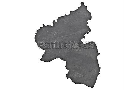 map of rhineland palatinate on dark