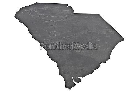 map of south carolina on dark
