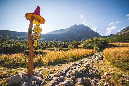 hiking trail under mountain peak