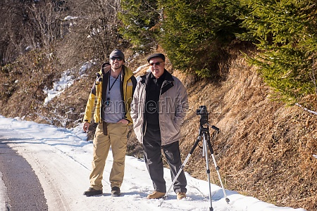 portrait of two male photographer at