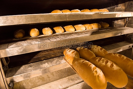 baked bread in the bakery