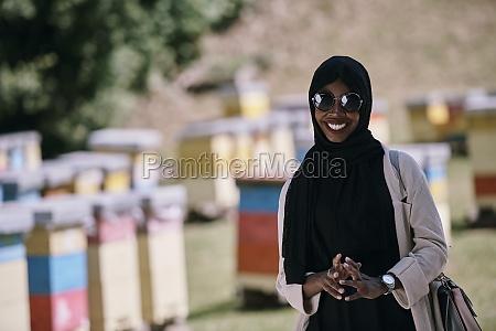 african muslim businesswoman portrait