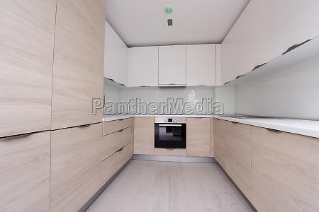 modern bright clean kitchen interior