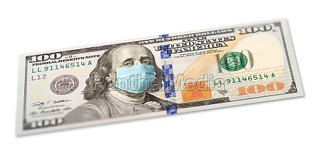 full 100 dollar bill with concerned