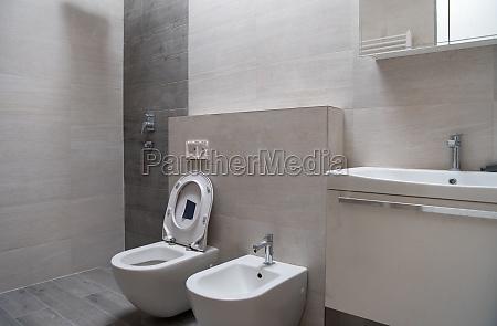 unfinished stylish bathroom interior
