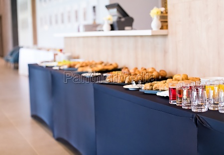 coffee break table on business seminar