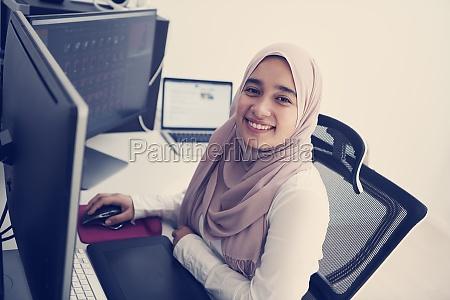 arabic creative professional working at