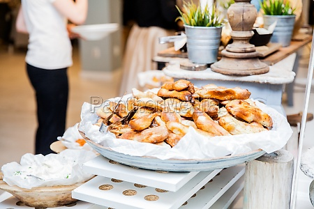 tasty pastry served restaurant event buffet