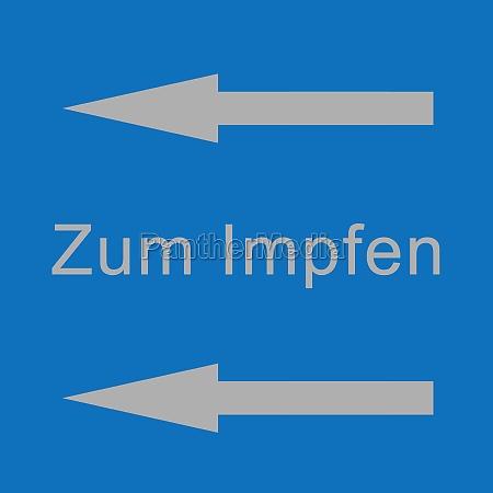 to vaccination center symbol illustration