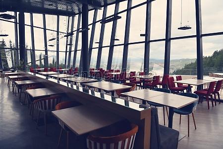 empty restaurant indoor during coronavirus