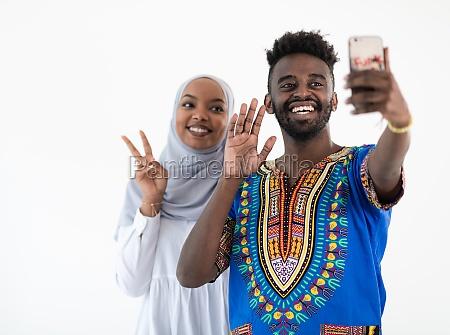 afro selfie