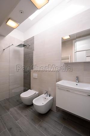 luxury stylish bathroom interior