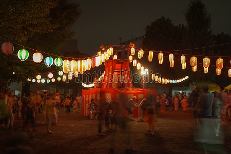bon odori image of summer festival