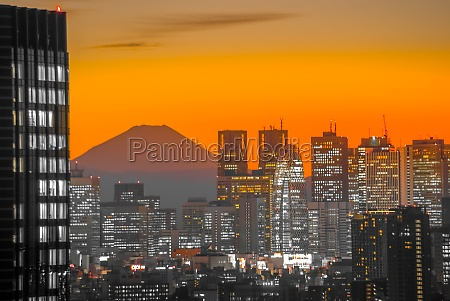 city and mount fuji which is