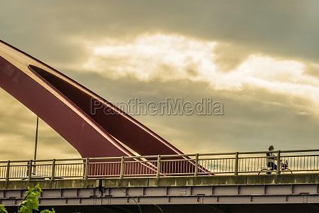 tama bridge and dusk sky